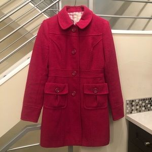 Tulle Mid Length Coat - Magenta